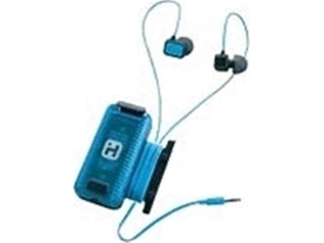 iHome iB83GQC Bluetooth BN Earphone with Mic Pouch, Gray & Green ...