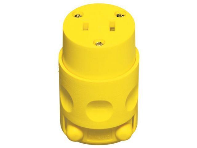 Leviton Mfg 000-115CV-000 15 Amp Yellow 125 Volt Polarized Cord Outlet -  Newegg com