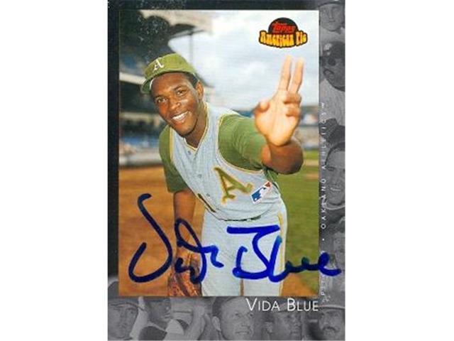 Autograph 120860 Oakland Athletics 2001 Topps American Pie No 88 Vida Blue Autographed Baseball Card Neweggcom