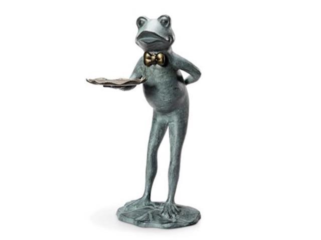 SPI Home 34258 Frog Butler Garden Table & Birdf