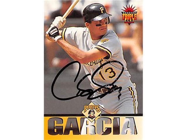 Autograph 123102 Pittsburgh Pirates 1994 Donruss Triple Play No 183 Carlos Garcia Autographed Baseball Card Neweggcom