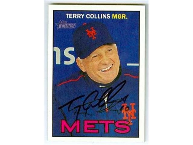 Autograph 223816 New York Mets Manager 2016 Topps Heritage No 270 Terry Collins Autographed Baseball Card Neweggcom