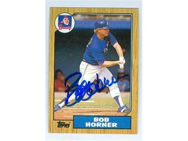 Autograph 222951 Atlanta Braves 1987 Topps No 660 Bob Horner Autographed Baseball Card Neweggcom
