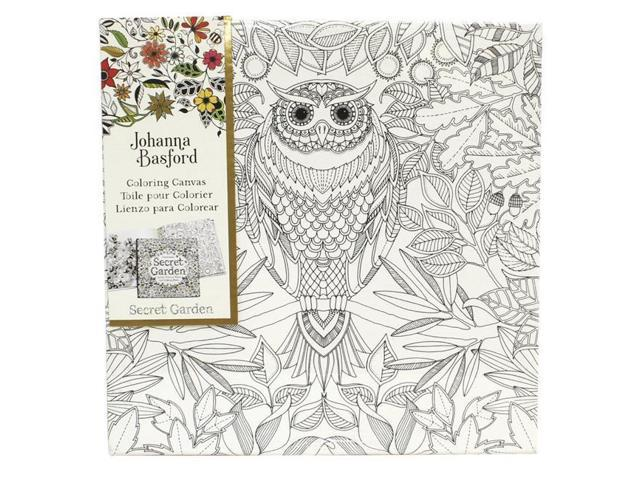 Macphersons 1592103 Laurence King Coloring Canvas, Owl, 12 x 12 in ...