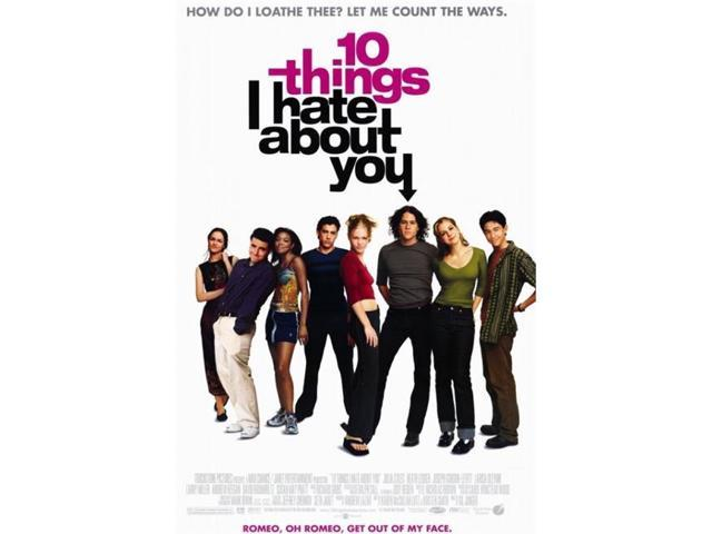 10 Things I Hate About You Movie Poster: Pop Culture Graphics MOVCF1396 Ten Things I Hate About You
