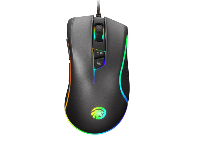 F300 RGB Backlit Wired 4000dpi Gaming Mouse 9 Programmable Buttons Optical  Computer Mouse Supports Windows XP, Vista, Linux,Win 7, Win 8,Win 10 -