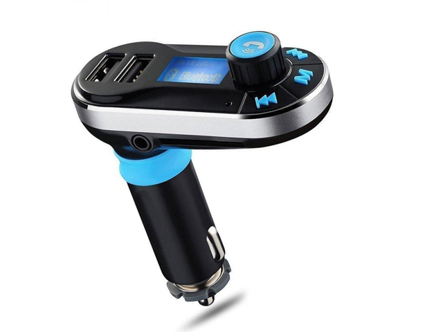 BT66 Wireless Bluetooth FM Transmitter Hands free Car Kit Radio Adapter MP3  Player Dual USB Car Charger support SD Card USB Flash Disk for Smart