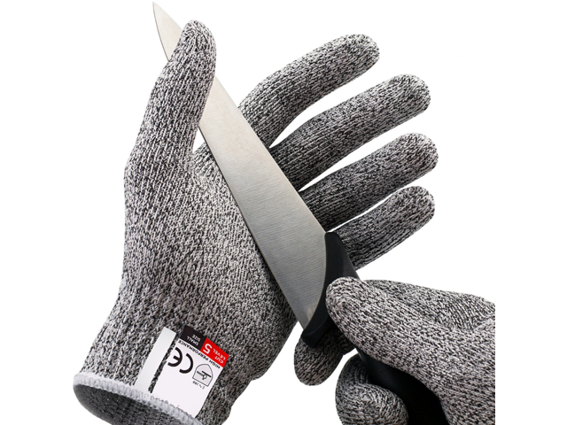 Cut Resistant Gloves Food Grade Level 5 Protection, Safety Kitchen Cuts  Gloves for Oyster Shucking, Fish Fillet Processing, Mandolin Slicing, Meat  ...