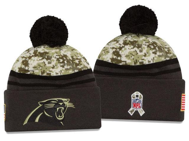 883f22378 New Era NFL 2016-17 Salute to Services Digital Camo Knit Beanie Hat -  Carolina Panthers