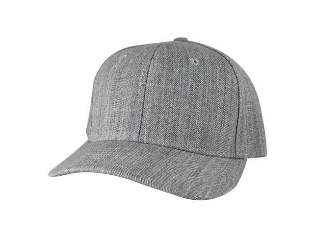1015 Series Mid Crown Curved Bill Snapback Cap Hat - Heather Grey -  Newegg com