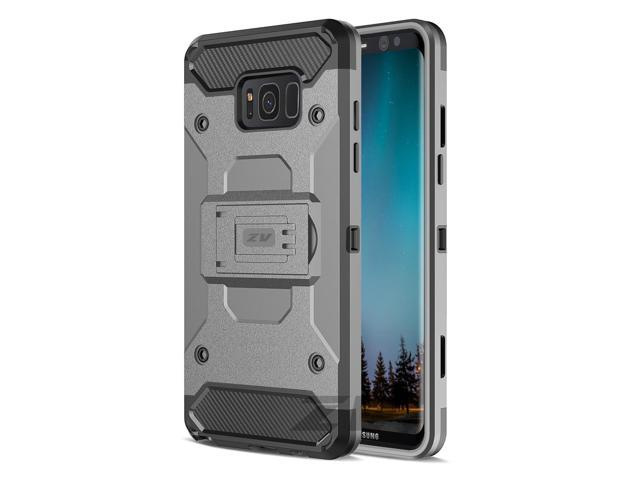 Samsung Galaxy S8 Case, Zizo Tough Armor Cover w/ [Heavy Duty Kickstand] Holster Clip [Shockproof Dual Layer Case] Strong Protective Slim - Galaxy S8