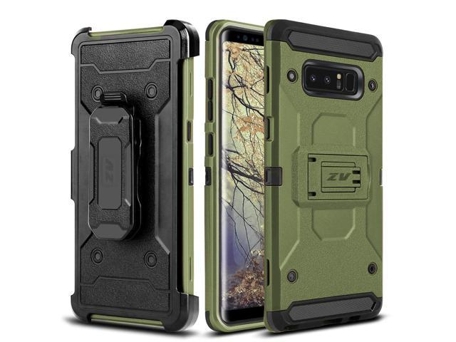 wholesale dealer 9d26b ec948 Zizo TOUGH ARMOR Series compatible with Samsung Galaxy Note 8 Case  Shockproof Dual Layered with Holster, Built In Kickstand - Newegg.com