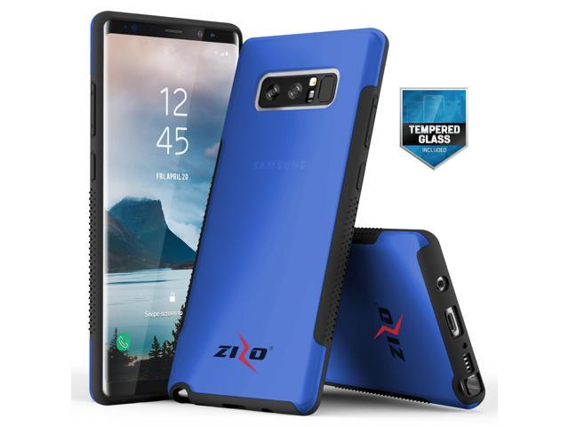 half off acddb b7a8f Zizo FLUX 3.0 Series compatible with Samsung Galaxy Note 8 Case Frosted  Rubber Back with Tempered Glass Screen Protector BLUE - Newegg.com