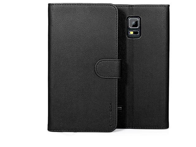 online store 4aed0 a23f0 Galaxy S5 Active Case, BUDDIBOX [Wallet Case] Premium PU Leather Wallet  Case with [Kickstand] Card Holder and ID Slot for Samsung S5 Active,  (Black) - ...