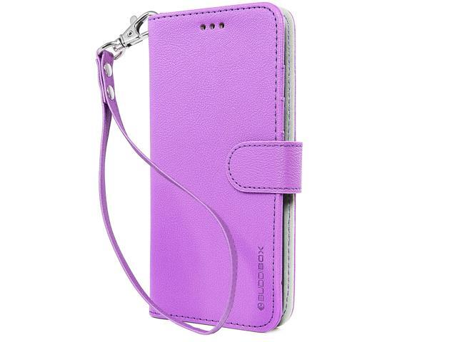 sneakers for cheap d46c7 54a50 BUDDIBOX Galaxy S8 Case [Wrist Strap] Premium PU Leather Wallet Case with  [Kickstand] Card Holder and ID Slot for Samsung Galaxy S8, (Purple) - ...