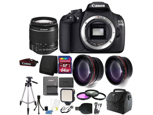 Canon EOS Rebel 1200D/T5 Digital SLR Camera with 64GB Top Accessory Bundle  - Newegg com