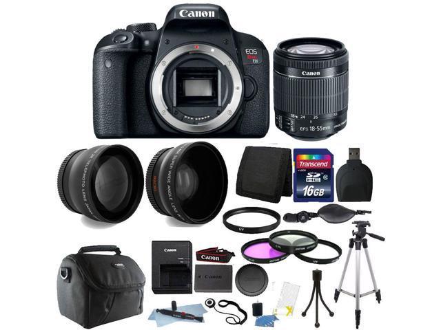 Canon EOS Rebel T7i / 800D 24 2MP Built-In Wi-Fi DSLR Camera + 18-55mm +  16GB Top Accessory Bundle - Newegg ca