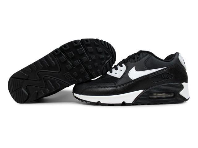 the best attitude 06a4f 21d6a Nike Air Max 90 Essential BlackWhite-Metallic Silver Womens 616730-023