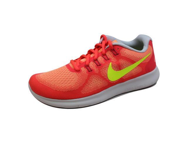 88272805b175 Nike Women s Free RN 2017 Sunset Glow Volt-Hot Punch 880840-800 Size ...