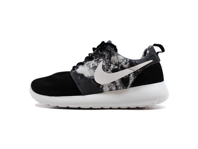 2c7aa82a44 Nike Women s Rosherun Print Black White-Cool Grey 599432-010 Size 12