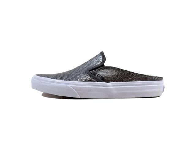 da7c44b55473f2 Vans Classic Slip On Mule Embossed Leather Grey True White VN0004KTIDQ  Men s Size 6.5
