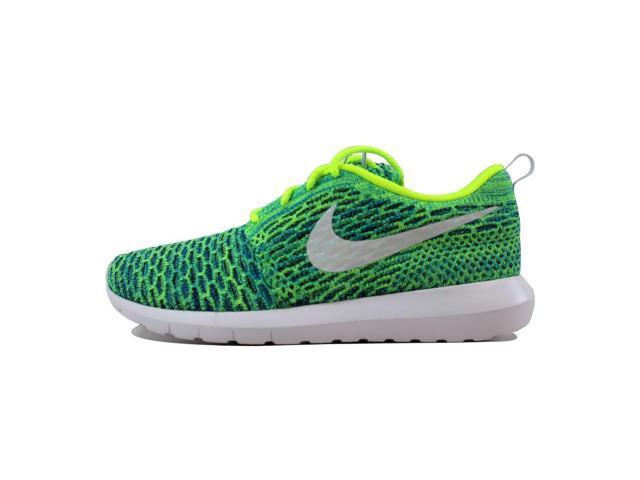 sports shoes 5b92e 6e6e8 Nike Roshe NM Flyknit QS Volt Metallic Silver-Voltage Green-Photo Blue  846200-700 Women s Size 6.5