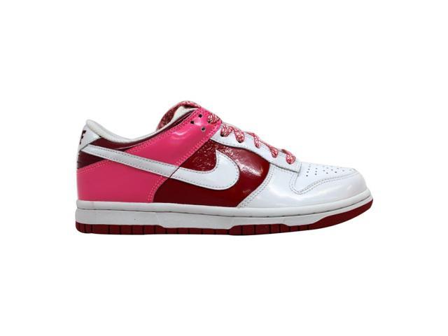 timeless design 40298 6fc3e Nike Dunk Low White/White-Varsity Red-Team Red 317813-114 Women's Size 6 -  Newegg.com