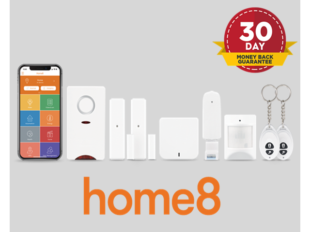 Home8Pro AlarmShield Security System, 7-Piece Valued Bundle  Includes  Motion Sensor  2 Door Sensors  Easy DIY, Wireless System (Great for  Intrusion