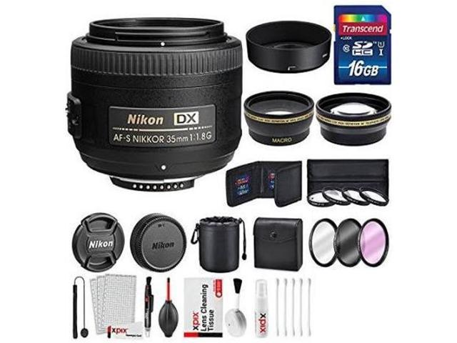 Nikon Wide Angle AF Nikkor 24mm 2.8D Autofocus Lens and Nikon Wide Angle AF Nikkor 35mm 2.0D Autofocus Lens and Other Mod 2.2x Telephoto Lens with Deluxe Lens Accessories Kit For Nikon AF-S Nikkor 35mm 1.8G DX Lens Pro Series 52mm 0.43x Wide Angle Lens