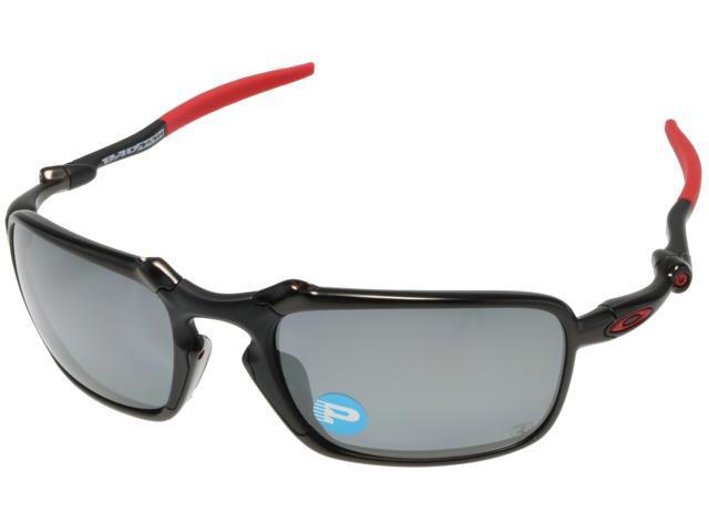 fe759001c9f70 Oakley BADMAN Sunglasses OO6020-07 Carbon Black Iridium Polarized Ferrari
