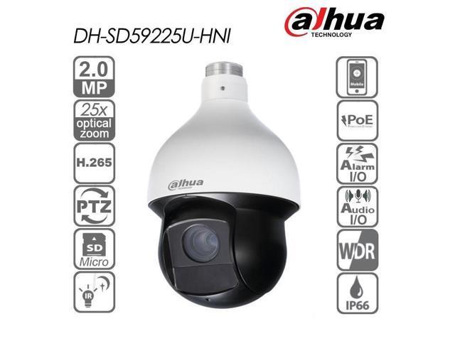 Dahua SD59225U-HNI 2MP 25x Starlight IR PTZ Network Camera Support  Auto-tracking and IVS 4 8-120mm Auto Zoom IR 150M English Firmware  Upgradable -