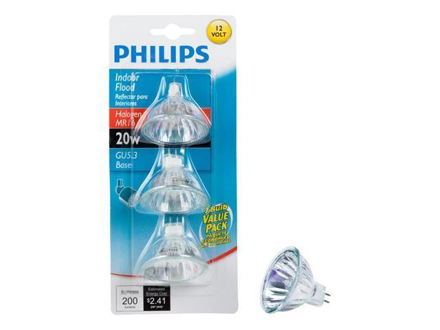Philips 415687 Indoor Flood 20 Watt Mr16 12 Volt Light Bulb 18 Pack Newegg Com