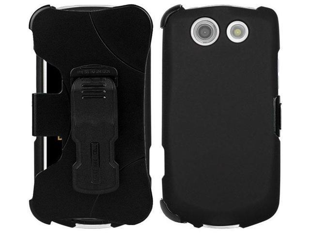 new products 172a5 a8ffc BLACK CASE + BELT CLIP HOLSTER SCREEN SAVER FOR VERIZON KYOCERA BRIGADIER  E6782 - Newegg.com