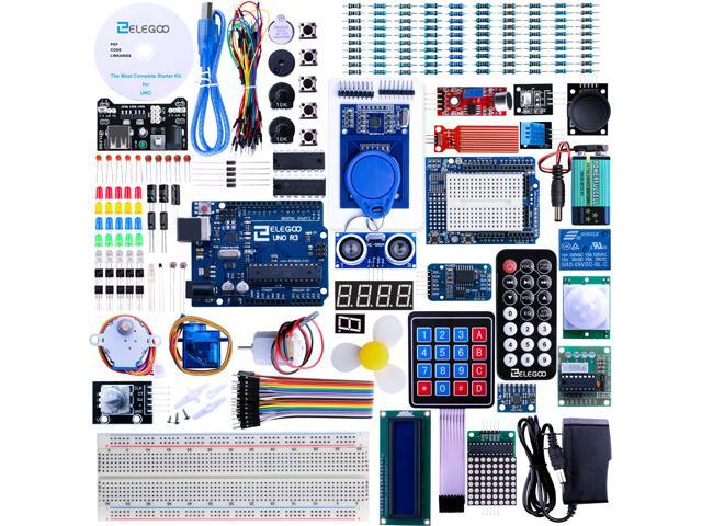 Elegoo For Arduino UNO R3 Project Most Complete Starter Kit w/ Tutorial for  MEGA2560 UNO NANO (63 Items) - Newegg com