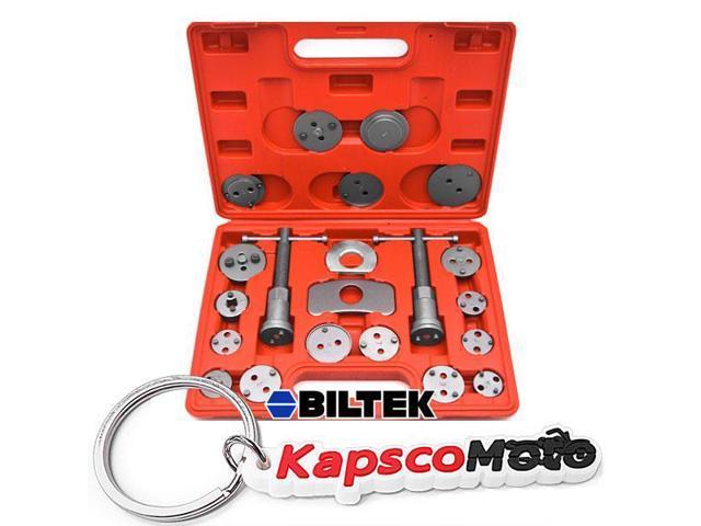 Biltek 22Pc Disc Brake Caliper Piston Wind Back Tool 4WD 4x4 SUV  Maintenance Hand Tool + KapscoMoto Keychain - Newegg com