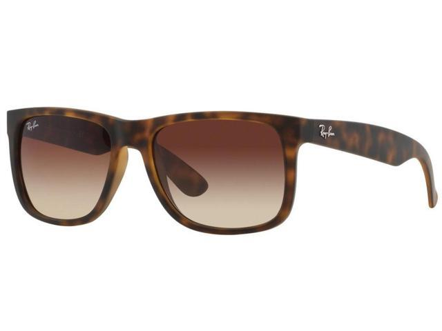 f6df3c88f0fb5 Ray-Ban Justin Nylon Light Tortoise Frame Brown Gradient Lens Unisex Sunglasses  RB4165