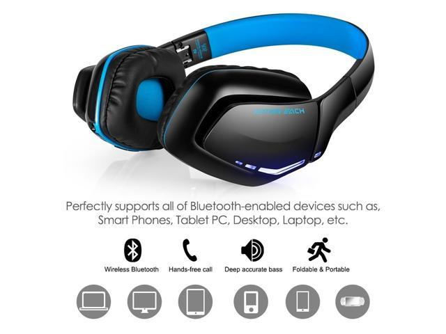 390a997059f SODIAL KOTION EACH B3506 V4.1 Bluetooth Wireless Headset with Microphone,  Noise Isolation Foldable
