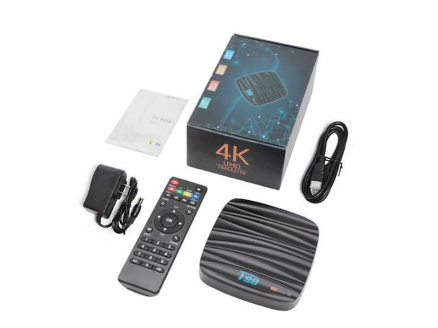 T98 Android 8 1 Smart TV BOX 4GB 32GB Allwinner H6 Quad core Support 4K HD  WiFi BT Multi-language Set top box with Voice Remote - Newegg com