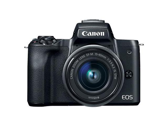 Canon eos m50 mirrorless digital camera with 15 45mm ef m is