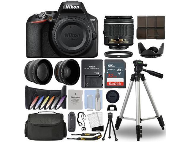 Nikon D3500 Digital SLR Camera + 18-55mm VR 3 Lens Kit + 32GB Best Value  Kit - Newegg com