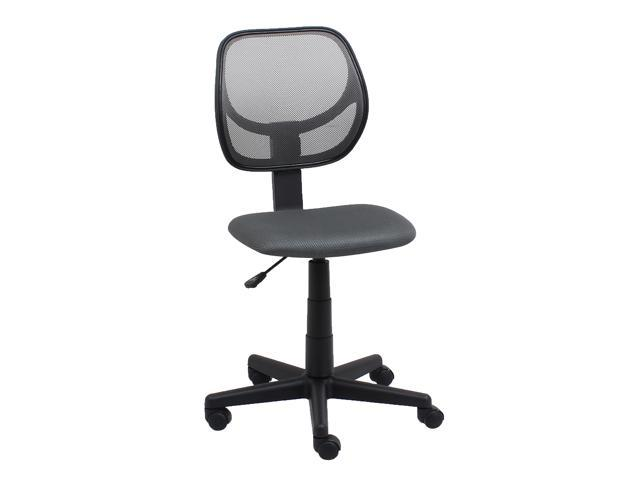 Superb Ofm Essentials Collection Armless Mesh Back And Fabric Task Chair In Gray E1009 Gray Newegg Com Gmtry Best Dining Table And Chair Ideas Images Gmtryco