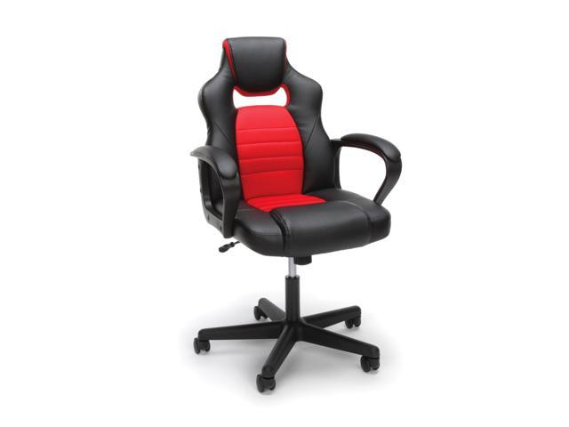 Essentials By OFM ESS 3083 Racing Style Gaming Chair, Red
