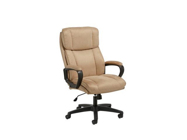 Essentials By Ofm Ess 3081 Plush High Back Microfiber Office Chair Tan