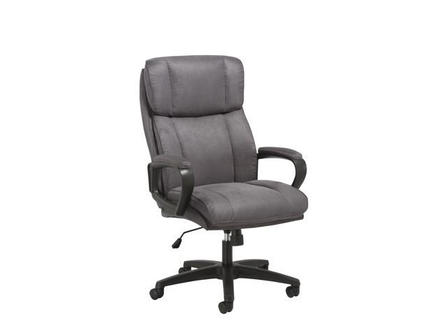 Essentials By Ofm Ess 3081 Plush High Back Microfiber Office Chair Gray