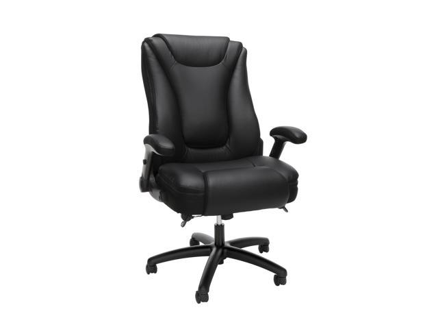OFM Essentials Collection Ergonomic Executive Bonded Leather Office Chair, in Black (ESS-6047-BLK)
