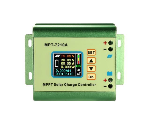 MPPT Solar Panel Battery Regulator Charge Controller with LCD Color Display  24/36/48/60/72V 10A with DC-DC Boost Charge Function - Newegg com
