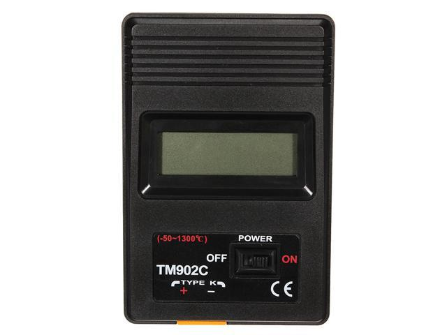 TM-902C Black K Type Digital LCD Temperature Detector Thermometer Industrial Thermodetector Meter + Thermocouple