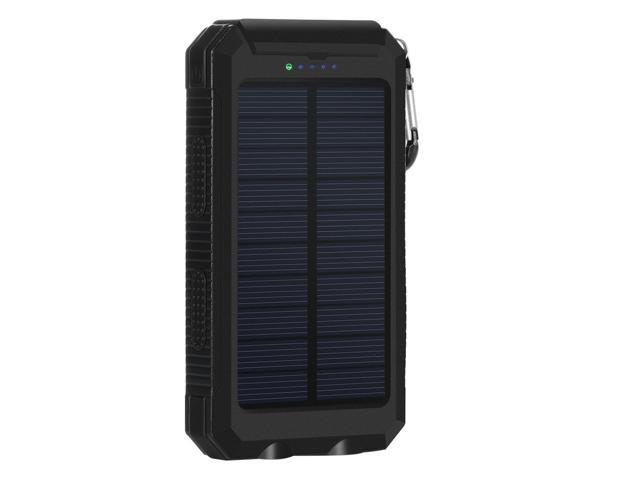 Ordinaire Solar Charger, 10000mAh Solar Power Bank Portable Battery Pack Cellphone  Charger With 2 LED Flashlights