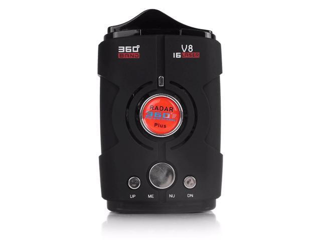 360 Degree V8 Car Anti Radar Detector 2016 16 Band Russia/English version  LED Display XK NK Ku Ka - Newegg com