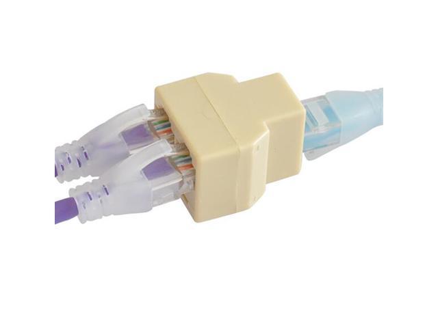 5pcs RJ-45 SOCKET RJ45 Splitter Connector CAT5 CAT6 LAN Ethernet ...